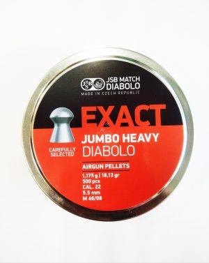 JSB MATCH EXACT JUMBO HEAVY PELLETS 0.22