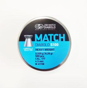 JSB MATCH DIABOLO 0.177 FOR AIR RIFLE